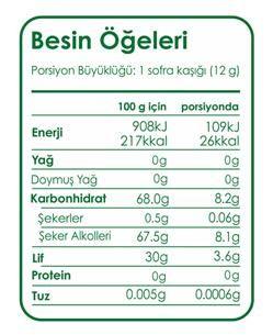 Fibrelle Stevialı 2,5kg Prebiyotik Lifli Tatlandırıcı
