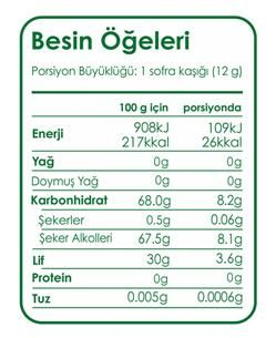 FİBRELLE - Fibrelle Stevialı 2,5kg Prebiyotik Lifli Tatlandırıcı (1)