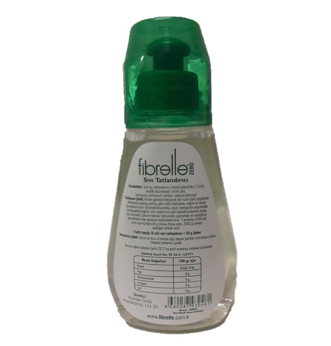 Fibrelle Zero Sıvı Tatlandırıcı 200 ml ( Stevia Bazlı )