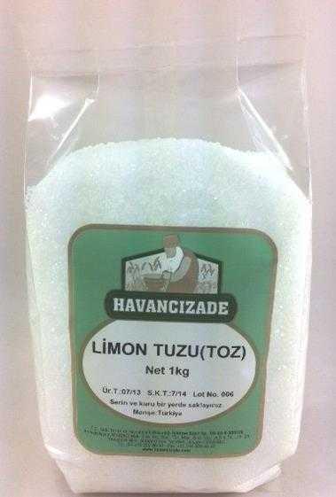 Sitrik Asit (Limon Tuzu Toz )