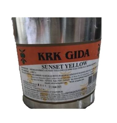 Sunset Yellow Gıda Renklendiricisi (Turuncu) E 110 -1Kg